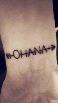tatuajes tattoo ohana muñeca 2