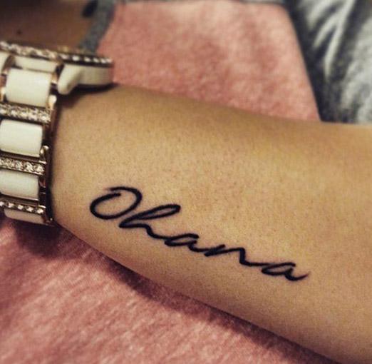tatuajes tattoo ohana muñeca 3