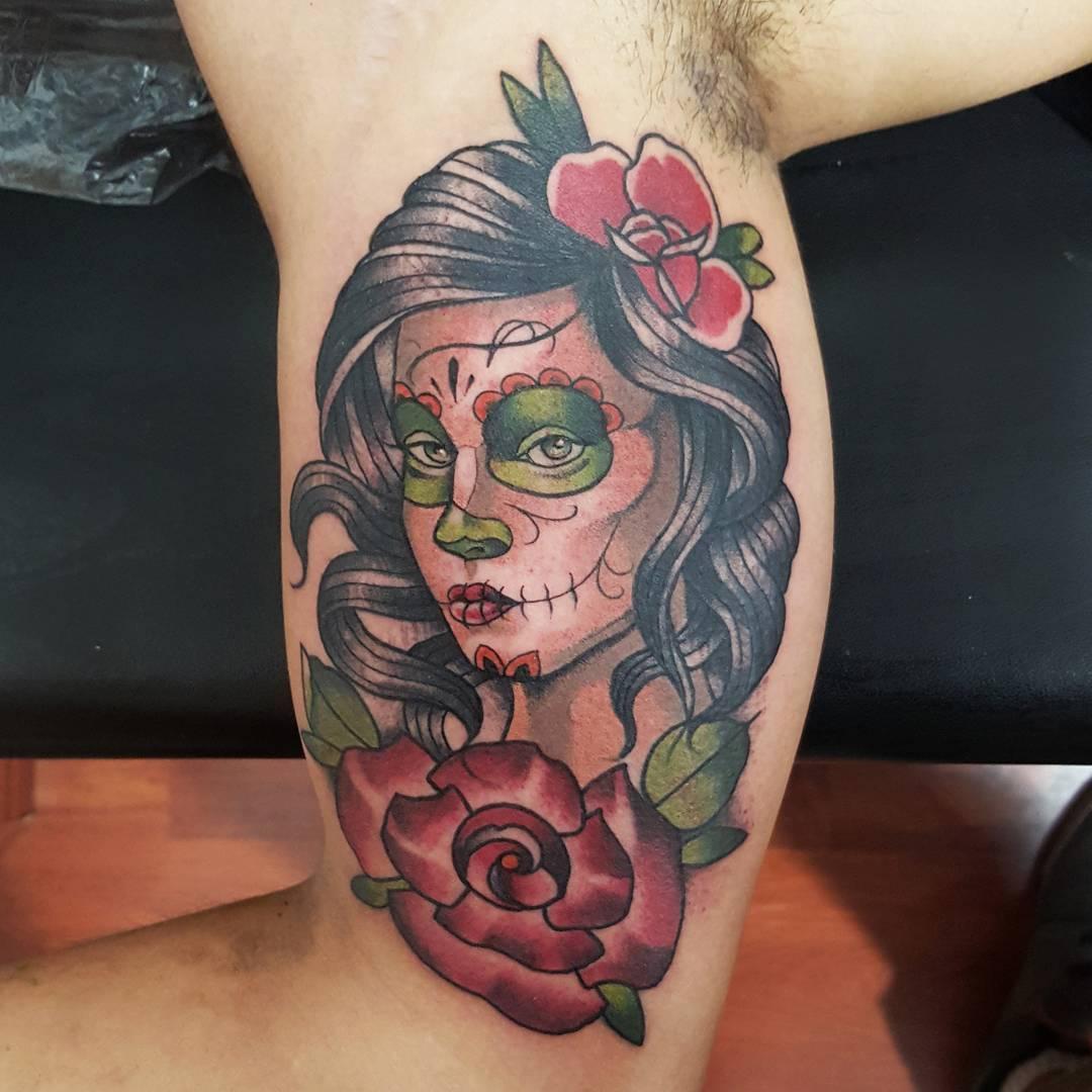 Christopher Peste hecho mexico tattoo - méxico