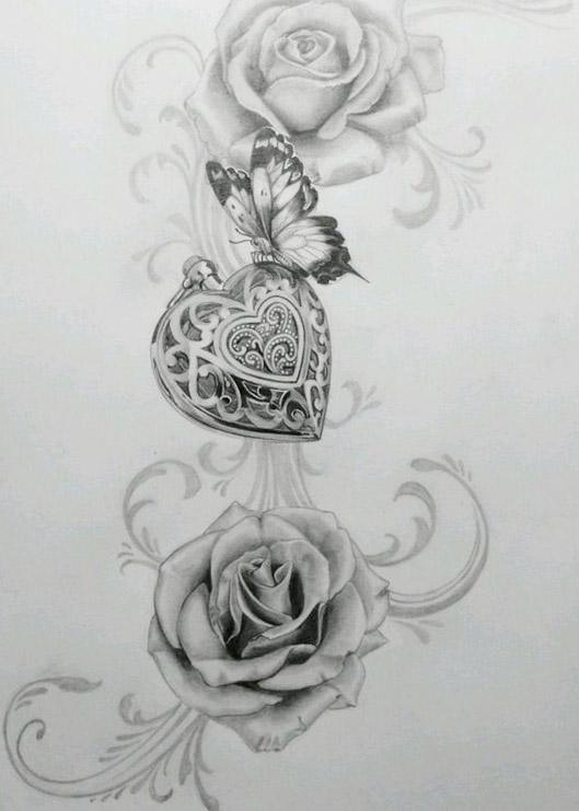 diseños bocetos plantillas tatuaje de una mariposa 1 - tatuajes de mariposas