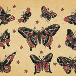 diseños bocetos plantillas tatuaje de una mariposa 4 150x150