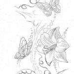 diseños bocetos plantillas tatuaje de una mariposa 5 150x150
