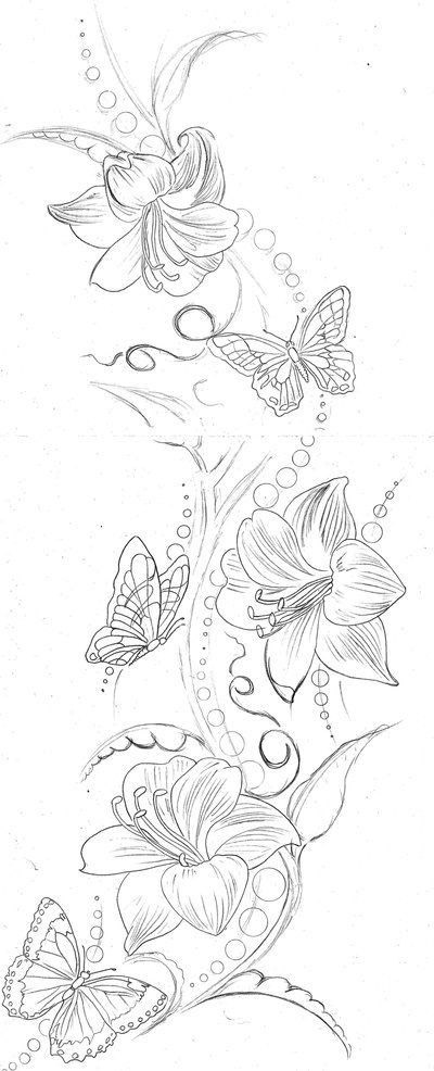 diseños bocetos plantillas tatuaje de una mariposa 5 - tatuajes de mariposas