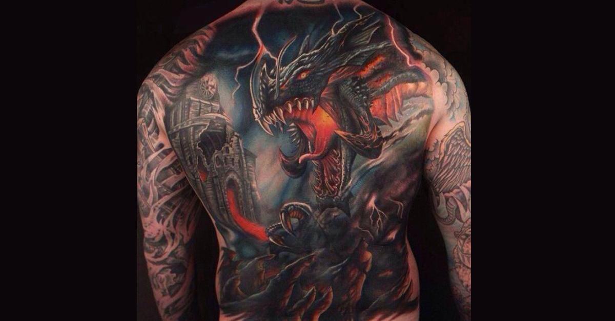 portada tattoo dragones