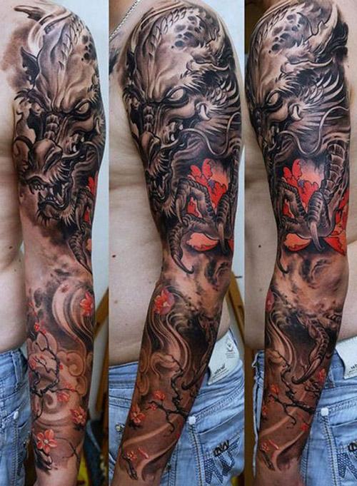 tattoo dragon brazo hombre 1