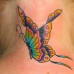 tattoo mariposa cuello flores 2 150x150