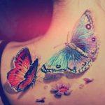 tattoo mariposa cuello flores 4 150x150