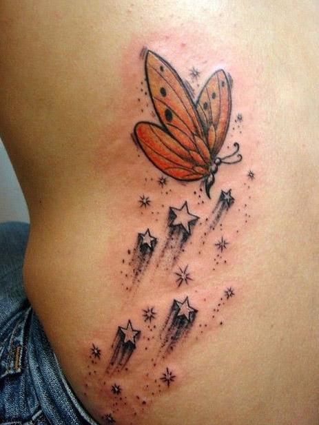 tattoo mariposas significado estrellas 1 - tatuajes de mariposas