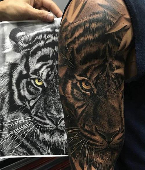 tattoo tigres brazo 2