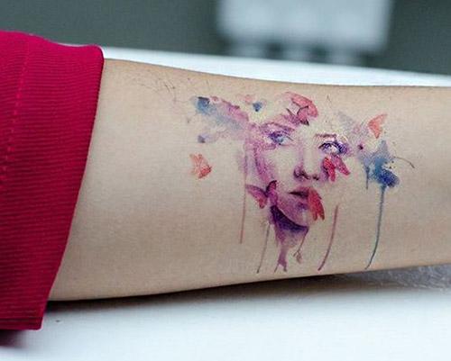 tatuajes a color de mariposas acuarela 1
