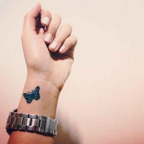 tatuajes con mariposas muñeca pequeño 1 - tatuajes de mariposas