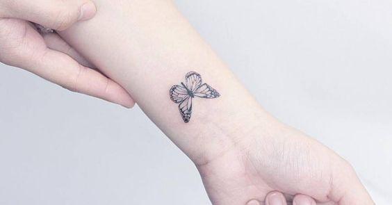 tatuajes con mariposas muñeca pequeño 4 - tatuajes de mariposas