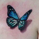 tatuajes de mariposas azules tattoo 3D 1 150x150