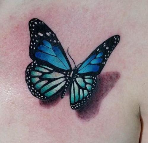 tatuajes de mariposas azules tattoo 3D 1 - tatuajes de mariposas