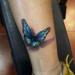 tatuajes de mariposas azules tattoo 3D 2 150x150