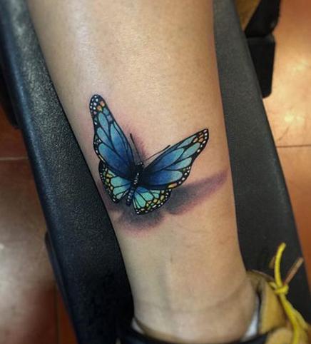 tatuajes de mariposas azules tattoo 3D 2 - tatuajes de mariposas