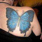 tatuajes de mariposas azules tattoo 3D 5 150x150