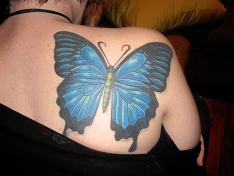 tatuajes de mariposas azules tattoo 3D 5 - tatuajes de mariposas