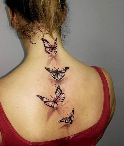 tatuajes de mariposas espalda arriba 3