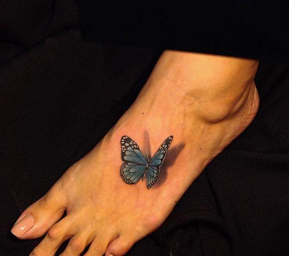 tatuajes de mariposas pie pequeños 2 - tatuajes de mariposas