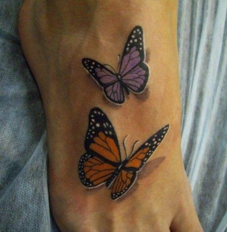 tatuajes de mariposas pie pequeños 3 - tatuajes de mariposas