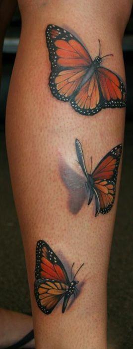 tatuajes de mariposas pierna - tatuajes de mariposas