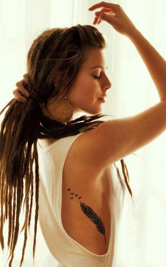 tatuajes de mujeres rastas 2 - Tatuagens Feminina