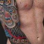 tatuajes dragones brazo mangas 2 150x150