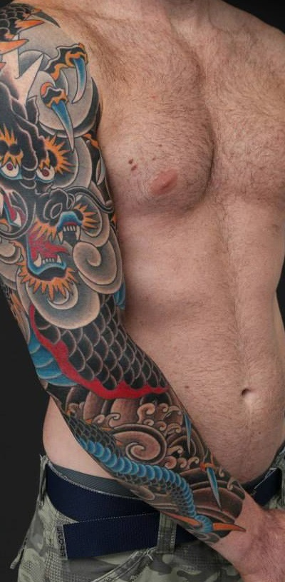 tatuajes dragones brazo mangas 2 - tatuajes de dragones