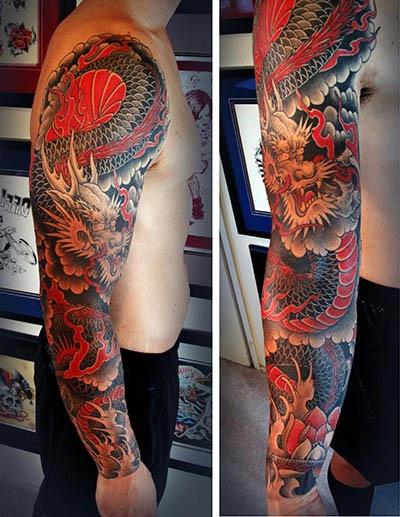 tatuajes dragones brazo mangas 3 - tatuajes de dragones