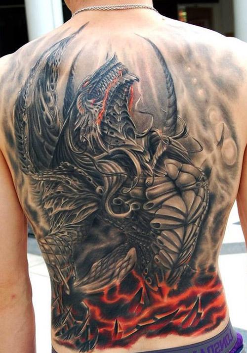 tatuajes dragones espalda tattoo 2