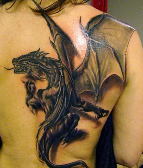 tatuajes dragones espalda tattoo 6