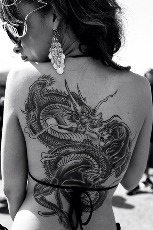 tatuajes dragones espalda tattoo 7