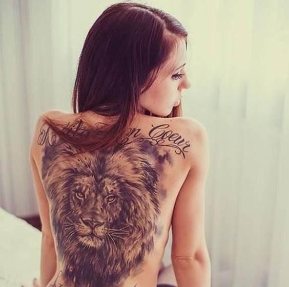 tatuajes leon espalda 1