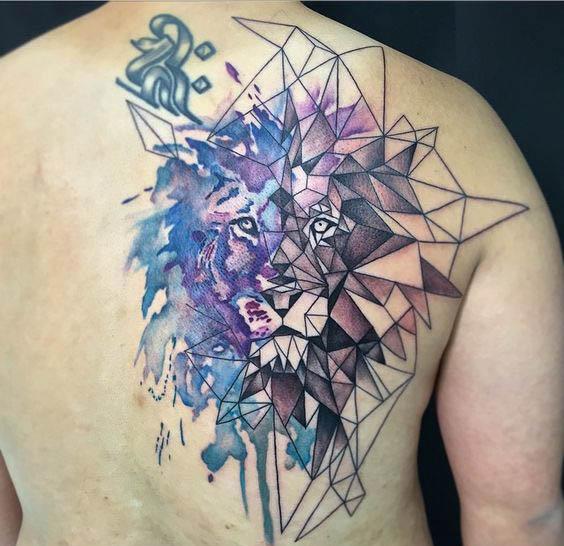 tatuajes leon espalda 3