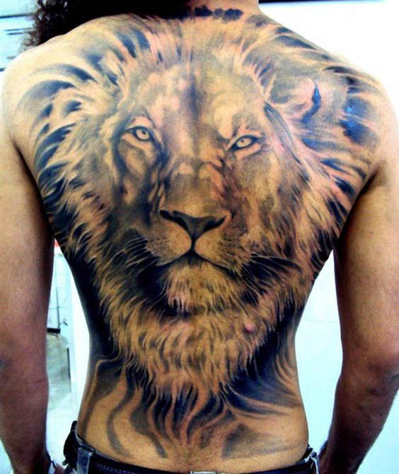 tatuajes leon espalda 4