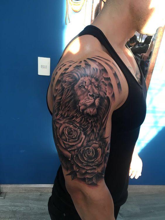 tatuajes leones en el brazo mangas tattoo 1