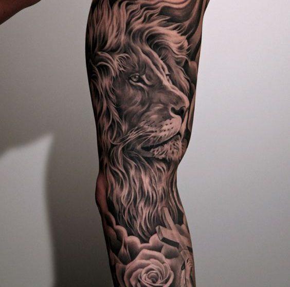 tatuajes leones en el brazo mangas tattoo 2 e1490374968378