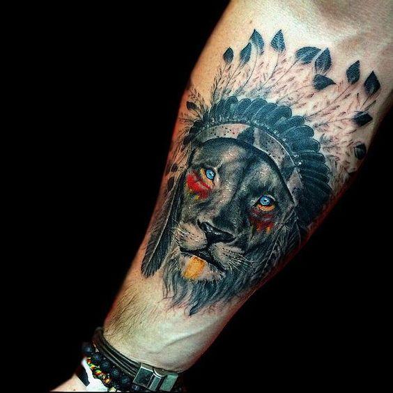 tatuajes leones hombres leon 3