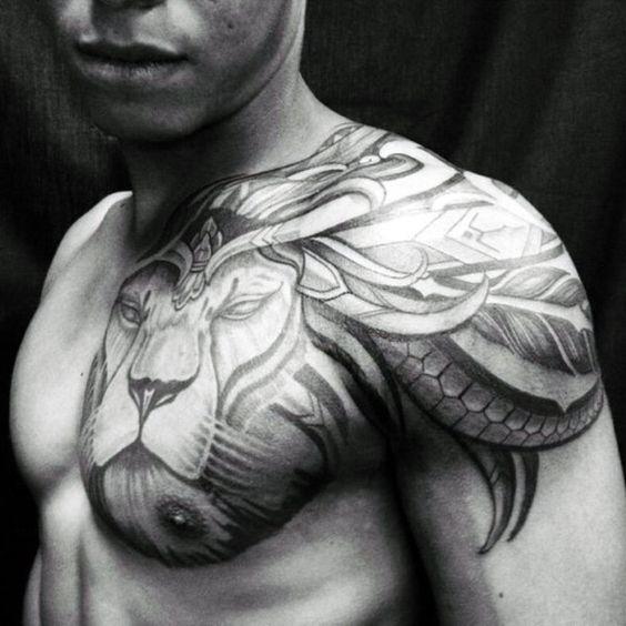tatuajes leones hombres leon 6