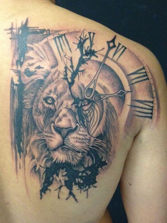 tatuajes leones hombres leon 7