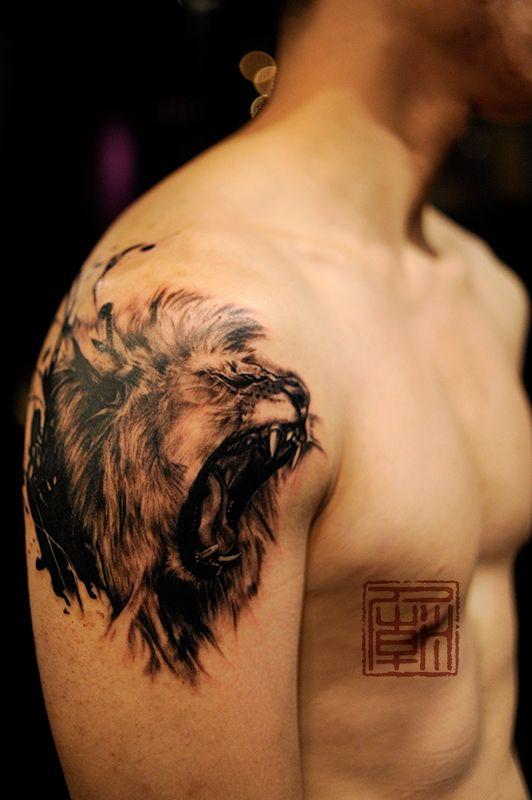 tatuajes leones realistas 3D 2 - leones
