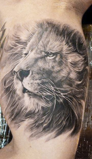 tatuajes leones realistas 3D 4 - leones