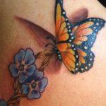 tatuajes mariposas con flores 3 150x150