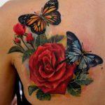 tatuajes mariposas con flores 4 150x150