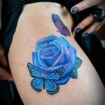 tatuajes mariposas con flores 6 150x150