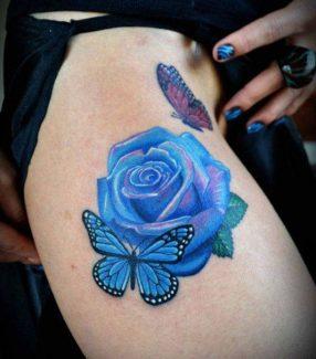 tatuajes-mariposas-con-flores (6)