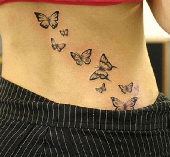 tatuajes mariposas espalda baja caderas pelvis 3 - tatuajes de mariposas