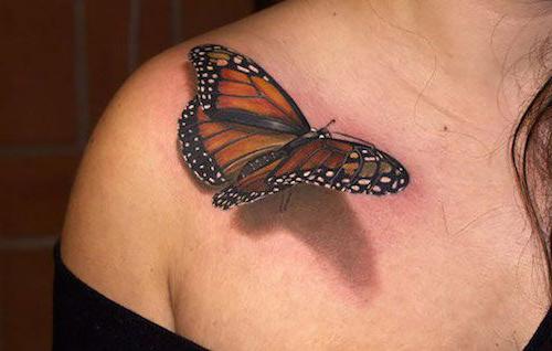 tatuajes mariposas realistas 3D 1 - tatuajes de mariposas