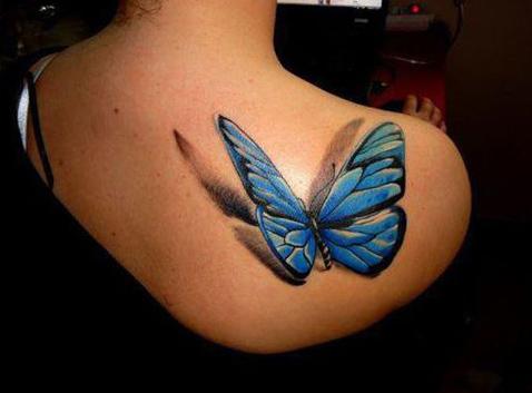 tatuajes mariposas realistas 3D 2 - tatuajes de mariposas